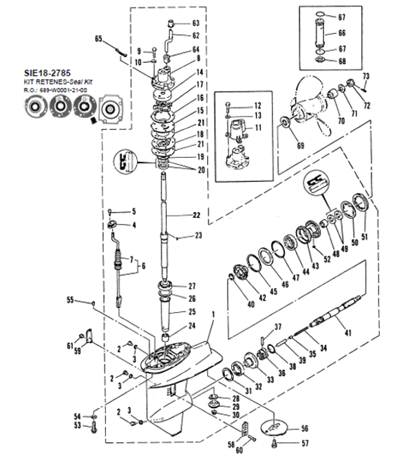 Gear Housing Assembly in addition Transom Seal further Velvet Drive Marine Transmission Diagrams Parts Pricing together with Volvo Penta Explodedview 7749308 44 10149 additionally Fuel Management System Breakdown. on mercury outboard lower unit
