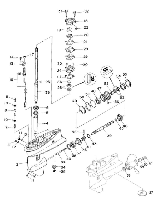 Vaxelhusdelar Yamaha 30de 30dmh Yamaha22 further Johnson Evinrude Parts likewise Mercury Trim Relay Wiring likewise Omc Trim Gauge Wiring Diagram in addition Johnson 9 9 carb Fuel pump. on 30 hp evinrude