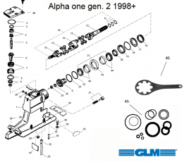 alpha one gen 2 parts with Drev Skold on 4 Cylinder Mercruiser Cooling System Diagram furthermore Index additionally 282105223817 likewise Carbkits also Drev Skold.