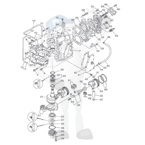 Hp 4 Cylinder Mercruiser 470 Engines additionally Wiring Diagram For Volvo Penta Trim moreover Chevy 350 Engine Diagrams Online additionally Chevy 305 Knock Sensor Location besides Chevrolet 454 74 Boat Engine Chevrolet Engines Various. on mercruiser 3 0 distributor diagram