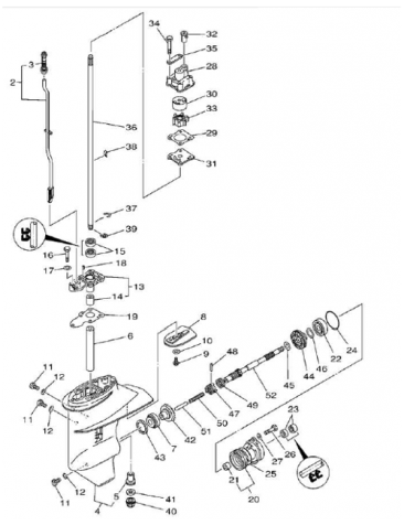 Document as well Vaxelhusdelar Yamaha 6 8 Hk Yamaha19 besides 70 Hp Johnson Outboard Motor Specs also Evinrude Outboard Wiring Diagram likewise 121250255727. on mercury outboard parts